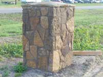 Earth Color Stone Fence Column