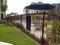 Wrought Iron Pool Enclosure Fence