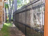 Wrought Iron Fence with Decorative Spindles