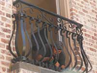 Black Scallop Balcony Hand Railing