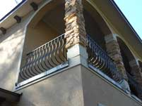 Scallop Balcony Hand Railing - Corner View