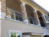Scallop Balcony Hand Railing - Front View