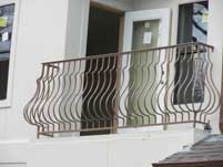 Tan Scallop Balcony Hand Railing