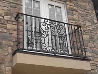 Scrol Balcony Railing - Side View