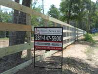 4 Rail Wood Fence w/2x4 Wire