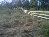 3 Rail Wood Fence
