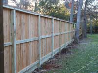Wood Privacy Fence Back View