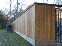 Wood Privacy Fence Front View