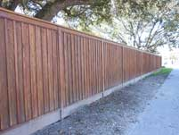 Slat Wood Privacy Fence