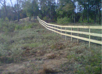 3 Rail Treated Fence